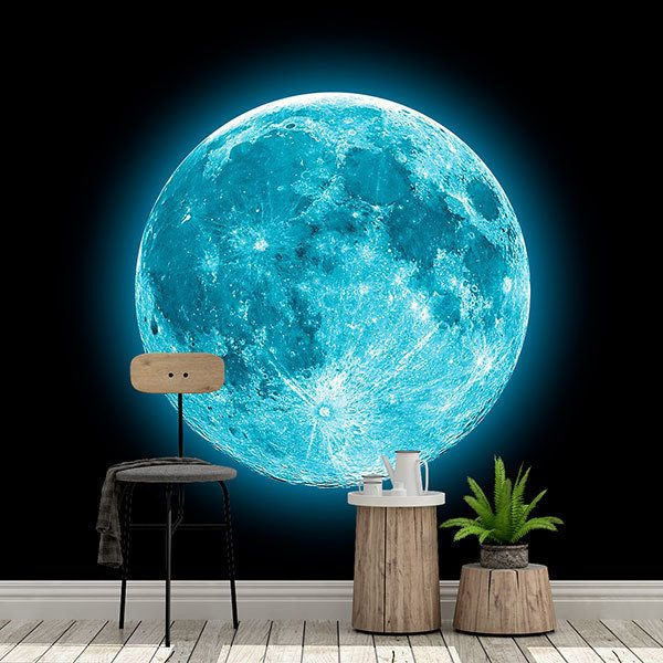 Wall Murals: Blue Moon