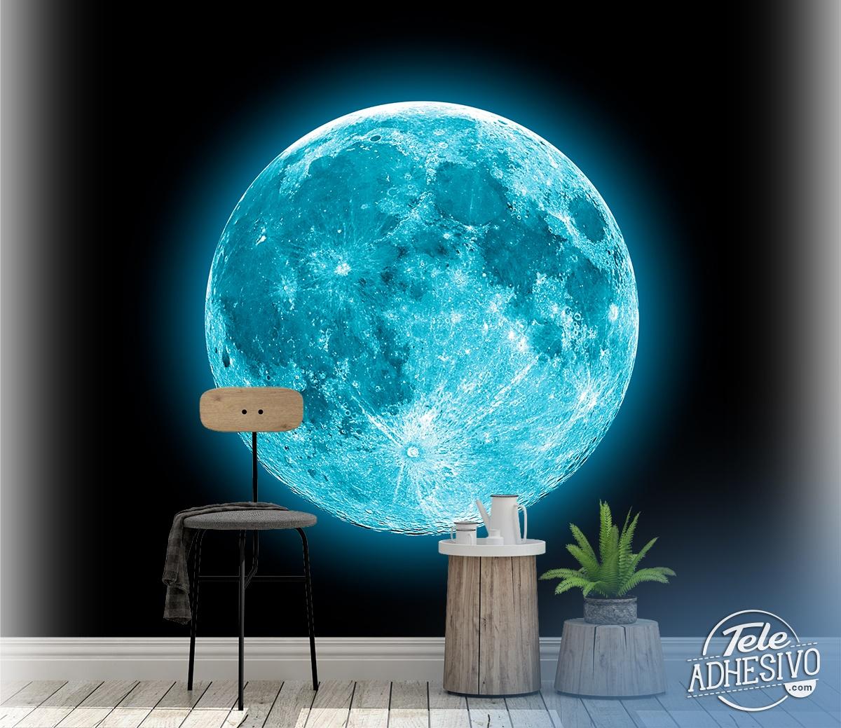 Wall Mural Blue Moon Muraldecal Com