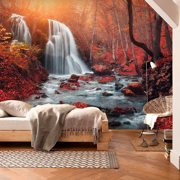Wall Murals: Waterfall in the Grand Canyon of Crimea