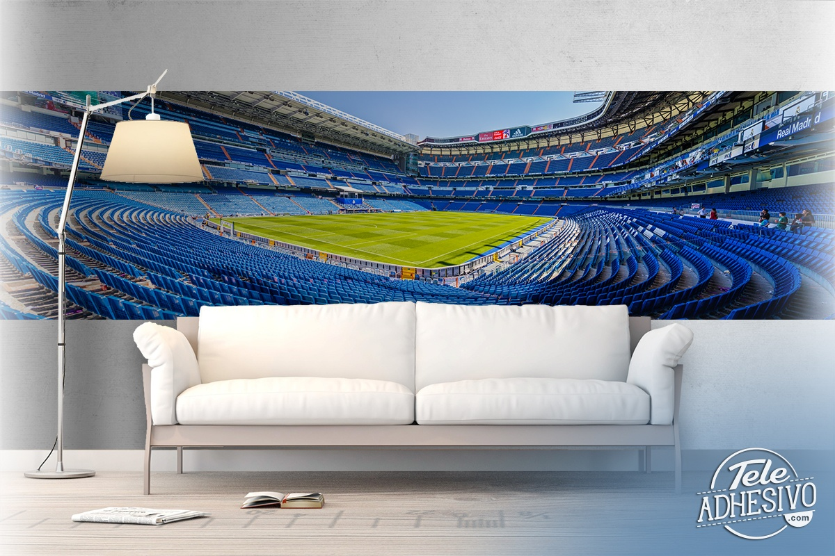 Wall Murals: Panoramic view of Santiago Bernabéu