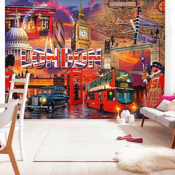 Wall Murals: Collage British 0