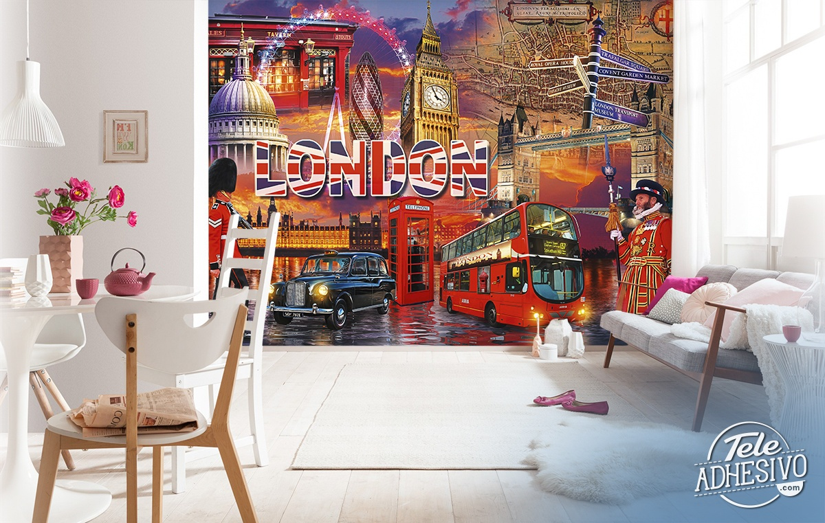Wall Murals: Collage British