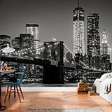 Wall Murals: Manhattan in black and white 2