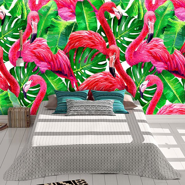 Wall Murals: Printed of flamingos 0