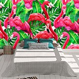 Wall Murals: Printed of flamingos 2