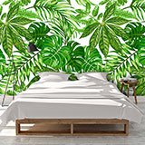 Wall Murals: Printed of green leaves 2