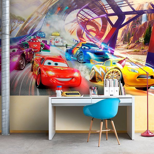 Wall Mural Cars Race Disney Muraldecalcom