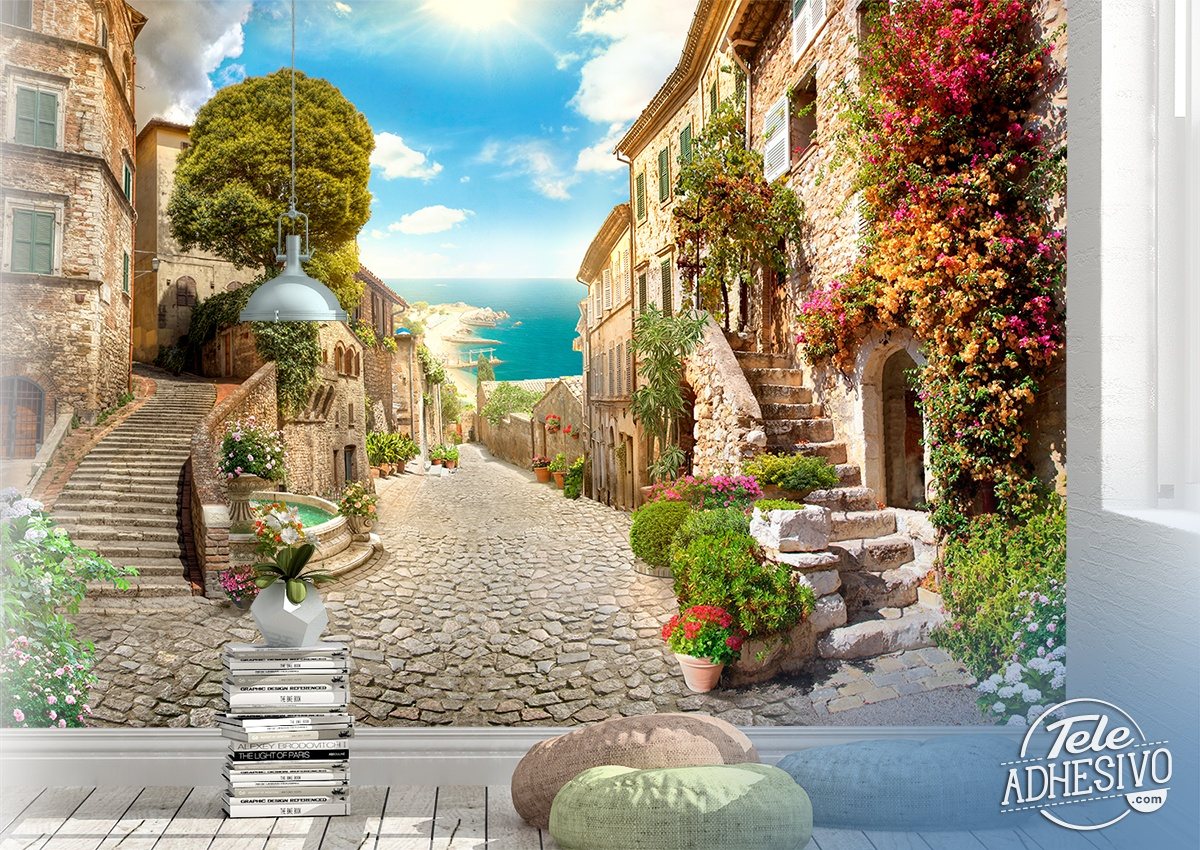 Wall Murals: Coastal village in Malta