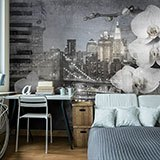 Wall Murals: Collage Orchids in New York 2