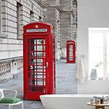 Wall Murals: Red telephone booth 2