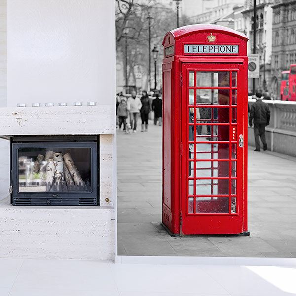 Wall Murals: Telephone booth in Oxford Street 0