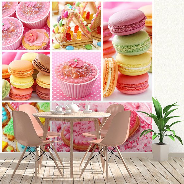Wall Murals: Collage Cupcakes