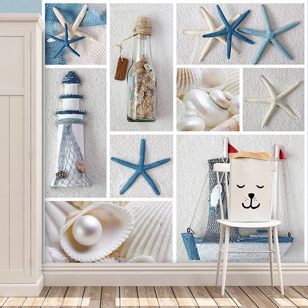 Wall Murals: Collage Sailor