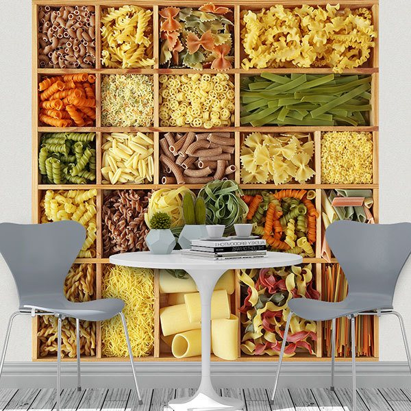 Wall Murals: Collage Italian Pasta