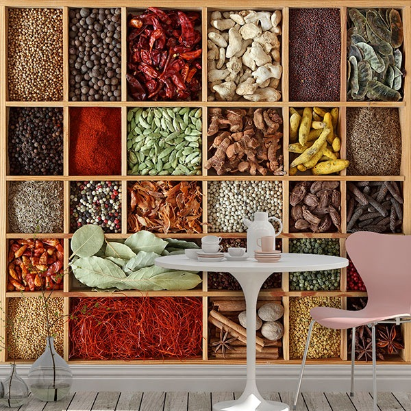 Wall Murals: Collage Spice Collection