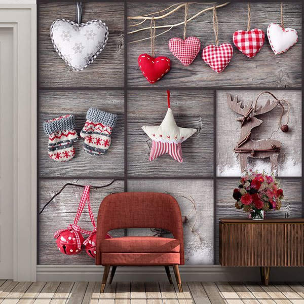 Wall Murals: Collage Christmas Decoration 0