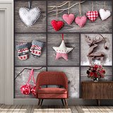 Wall Murals: Collage Christmas Decoration 2