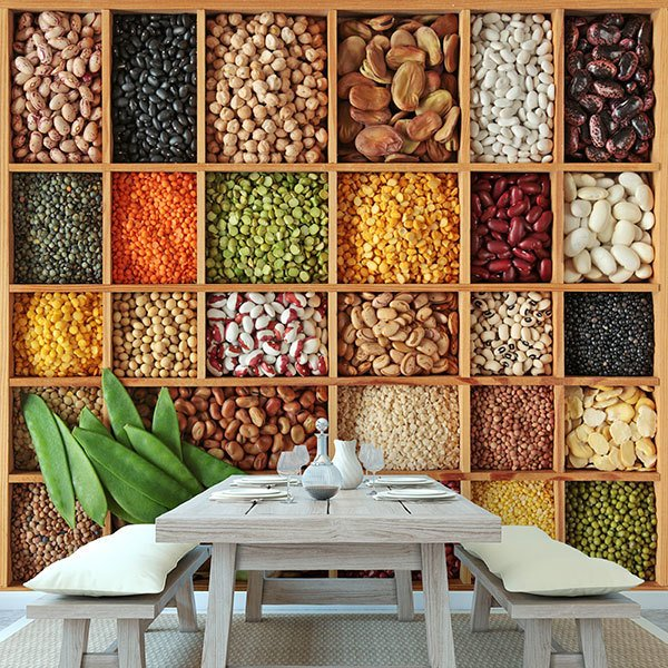 Wall Murals: Collage Legumes