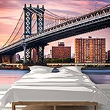 Wall Murals: Manhattan Bridge at sunset 2