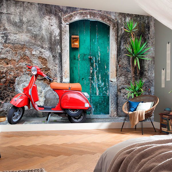 Wall Murals: Italian route on Vespa 0