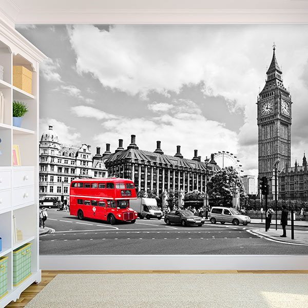 Wall Murals: Bus in Westminster