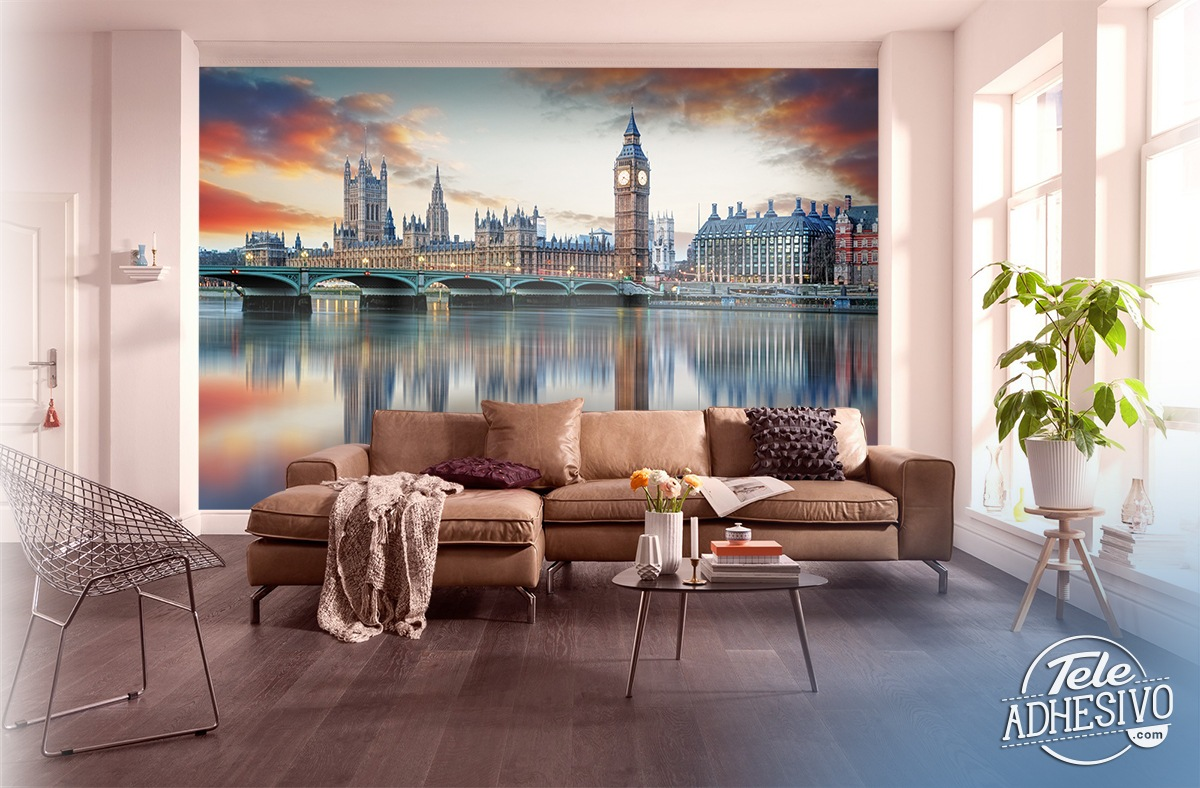 Wall Murals: London from the Thames