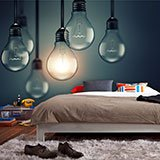 Wall Murals: Hanging light bulbs 2