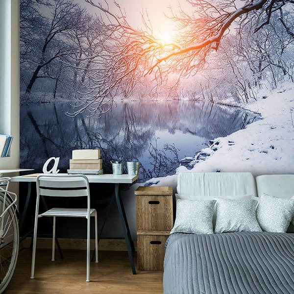Wall Murals: Dawn in winter 0