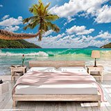Wall Murals: Palm tree by the sea 2
