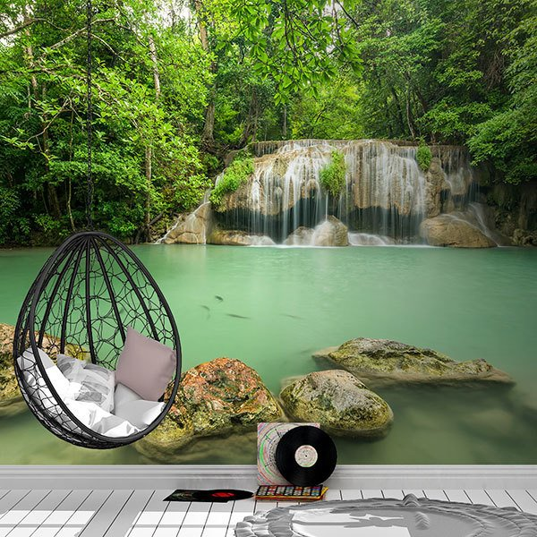 Wall Murals: Erawan Park Waterfall 0