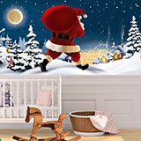 Wall Murals: Santa Claus distributes gifts 2