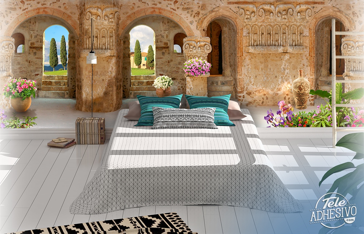 Wall Murals: Panoramic porch
