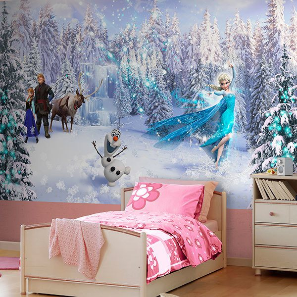 Wall Murals: Frozen and his friends