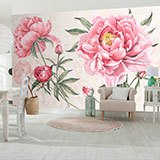 Wall Murals: Peony, the flower of the bride 2