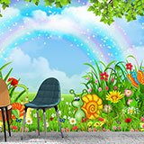 Wall Murals: Animals under the rainbow 2