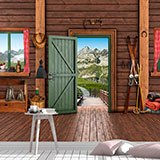 Wall Murals: Cottage in the Alps 2