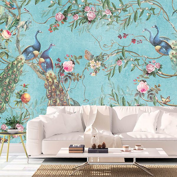 Wall Murals: Peacocks