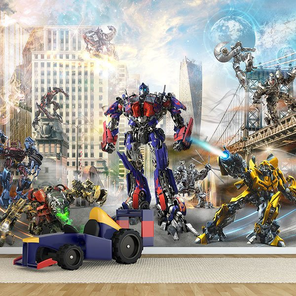 Wall Murals: Transformers in action 0