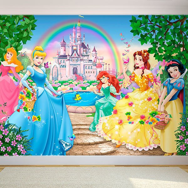 Wall Murals: Princesses and Disney Castle