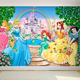 Wall Murals: Princesses and Disney Castle 2