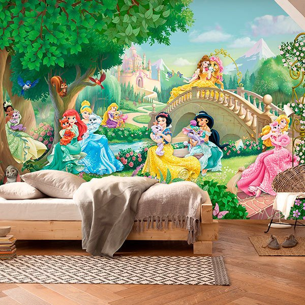 Wall Murals: Disney Princesses with Pets 0