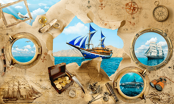 Wall Murals: Sailing adventures