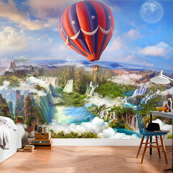 Wall Murals: Flying over paradise