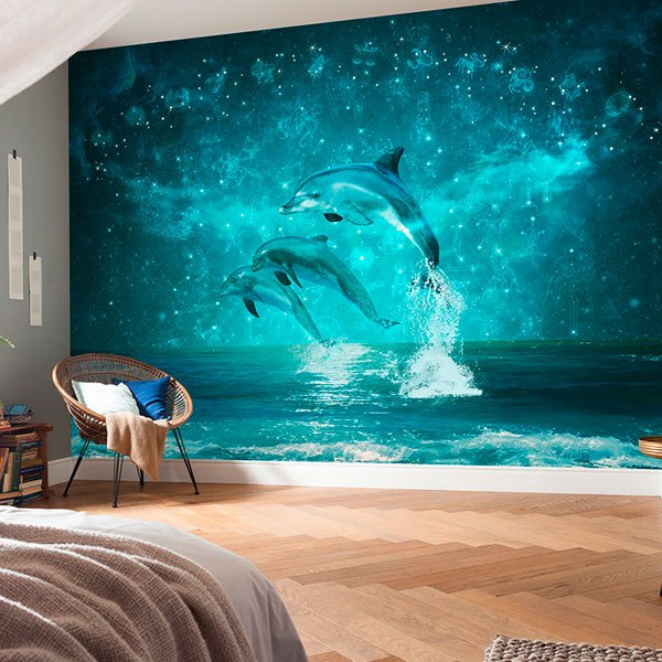 Wall Murals: Dolphins and constellations 0