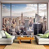 Wall Murals: View of New York from a room 2