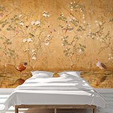 Wall Murals: Partridges drinking 2