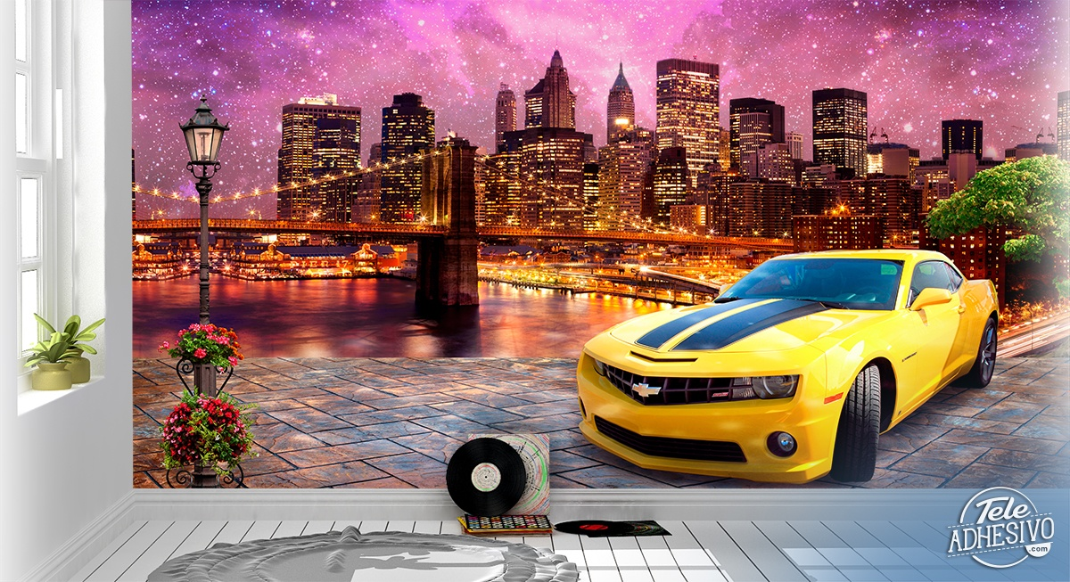 Wall Murals: Chevrolet at Brooklyn Bridge