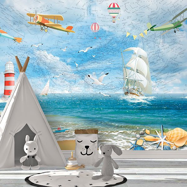 Wall Murals: A day at sea 0