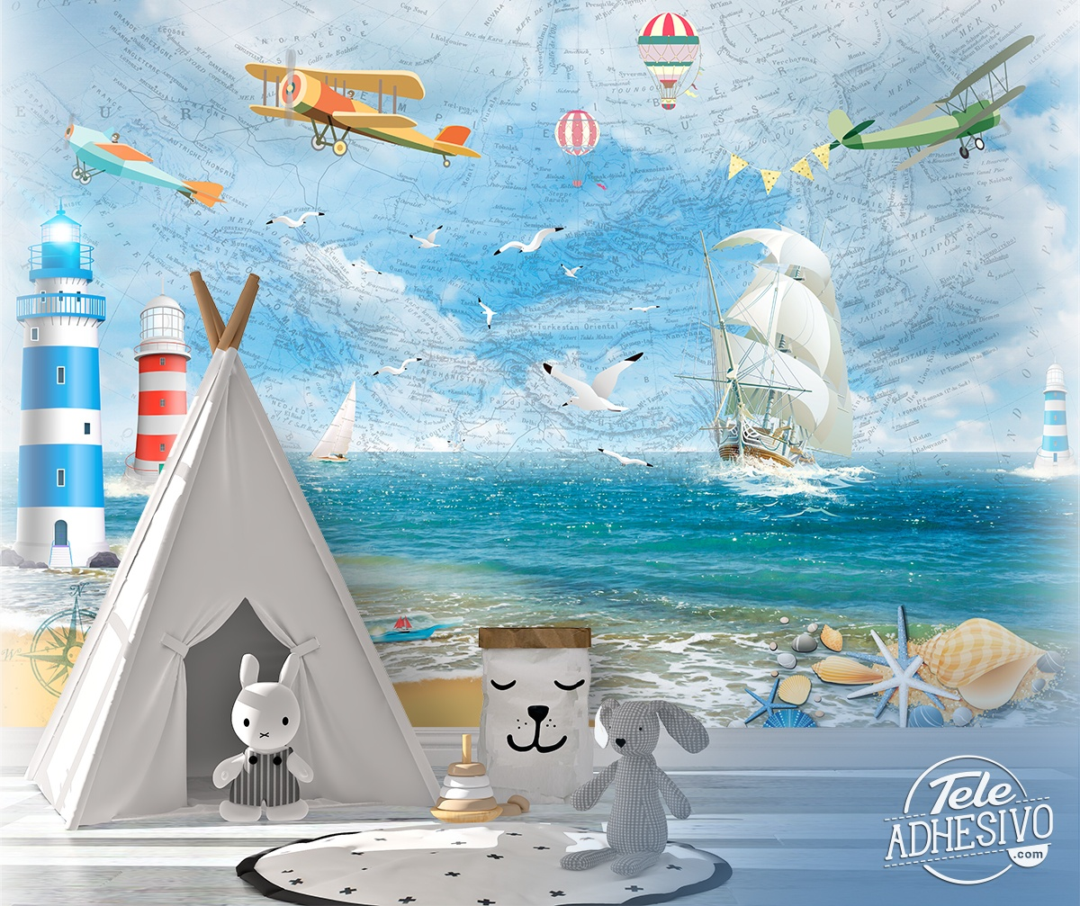 Wall Murals: A day at sea