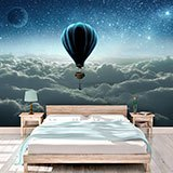 Wall Murals: Sunrise hot air balloon 2